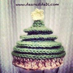 Crochet Christmas Tree Beanie Hat - Free Pattern