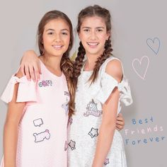 Best Friends Forever! #nautyblue #friends #dresses #pink #grey