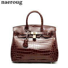 32.99$  Watch here - http://aitgc.worlditems.win/all/product.php?id=32798947470 - Luxury Fashion Women Crocodile Leather Tote Bags Platinum Handbags Famous Brand Lock Designer Women Top-handle Bags Sac A Main
