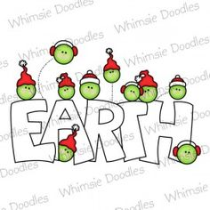 Peas on Earth - Whimsie Doodles - $3.00