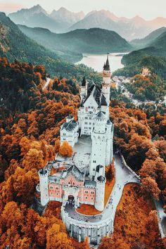 "banshy: ""Neuschwanstein Castle by Jacob Riglin """