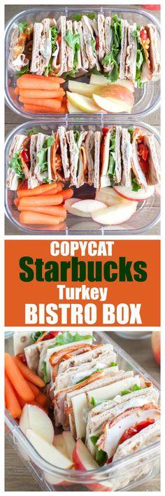 Copycat Starbucks Turkey Bistro Box - Meal prep turkey sandwiches just like Starbuck. Great for easy lunch. #bistrobox #mealprep #mealpreplunch #easylunch