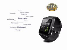 Bluetooth Watch U8 Smart watch WristWatch Smartwatch digital sport watches for Apple IOS Android phone Wearable Electronic   http://www.dealofthedaytips.com/products/bluetooth-watch-u8-smart-watch-wristwatch-smartwatch-digital-sport-watches-for-apple-ios-android-phone-wearable-electronic/