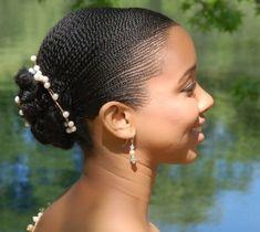 Natural bridal hairstyle