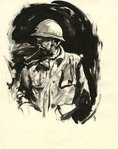 PRATT George - Illustration1- Dessin - 35,5x28-LD - W.B.