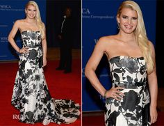 Jessica Simpson In Carolina Herrera – 100th Annual White House Correspondents' Association Dinner