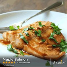 Maple Salmon | Easy baked salmon, thanks to a simple marinade starring maple syrup and soy sauce. — STARFLOWER