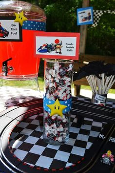 """Photo 7 of 52: Super Mario Brothers / Mario Kart Wii / Birthday """"Super Marshall Brothers Birthday Party """" 