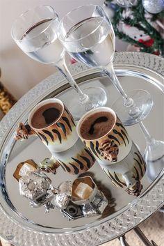 Turkish Coffee Serving.