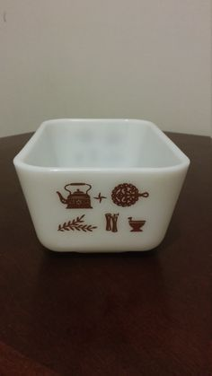pyrex early american medium fridgie number 0502 pint refrigerator set replacement vintage pyrex by HappyVintageStudio on Etsy Vintage Pyrex, Early American, Butter Dish, Dog Bowls, Refrigerator, Number, Medium, Unique Jewelry, Handmade Gifts