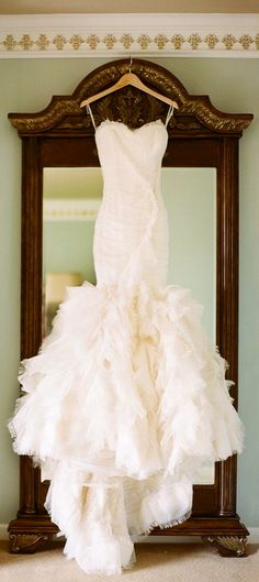 Vera Wang - this is what I envision you and your mom saw at the boutique. Is it close?