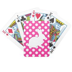 How to White Bunny Polka Dot Stripes Bicycle Playing Cards you will get best price offer lowest prices or diccount coupone