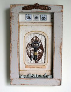 Shadowbox Collage--Nature Remains by Rebecca Sower, via Flickr