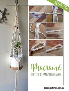 Tutorial Macramé Top Loop To Hang Your Plant Holder