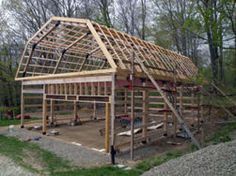 Decor porch and shed on pinterest pole barns car ports for How to build a pole shed step by step