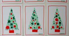 Voici une carte de Noël toute simple et rapidement faite avec les élèves de ma classe de moyenne section:        Il vous faut du papier Can... Kirigami, Voici, Advent Calendar, Education, Holiday Decor, Simple, Home Decor, Kids Christmas Cards, Visual Arts
