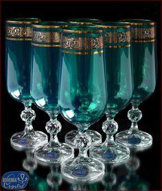 «Aleks-Crystal.com» - Bohemia crystal Champagne glasses! Bohemia Crystal, Bohemia Glass, Baccarat Crystal, Crystal Glassware, Crystal Champagne, Champagne Glasses, Mason Jar Wine Glass, Carnival Glass, Glass Art