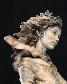Fall - Angela Mia De La Vega - Elegant Bronze Figurative Sculpture
