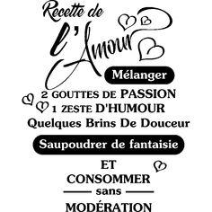 Sticker citation Recette de l'Amour