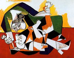 Woman Playing with a Dog. 1953. Picasso Collection. Donation Rosengart. Lucerne