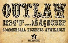 This font is called OUTLAW and it is by Billy Argel. Description from freebieland.blogspot.com. I searched for this on…