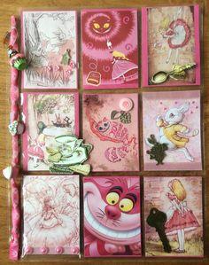 Pink Alice in Wonderland Pocket Letter