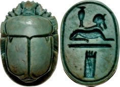 A Superb Egyptian New Kingdom Green Glazed Steatite Scarab , Finely Carved, with a Depiction of a Sphinx on the Base Egyptian Scarab, Ancient Egyptian Art, Ancient Aliens, Ancient History, European History, Ancient Greece, American History, Egyptian Jewelry, Ancient Egypt
