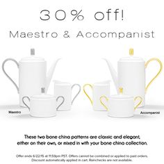 Classic, white bone china, 30% off! http://noritakechina.com/maestro-accompanist-bone-china.html?utm_source=Noritake&utm_medium=Pinterest&utm_campaign=MaestroAccomp_30Off_June2015 #registry #noritake #wedding #gifts #dinnerware #dining #tablescape #classic #sale