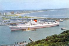RMS Pendennis Castle - a cousin was the extra Third Officer on the Pendennis for a while. Merchant Navy, Merchant Marine, Durban South Africa, Ferry Boat, Windsor Castle, Tall Ships, Battleship, Water Crafts, Travel Posters