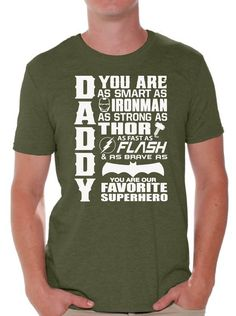 0d5af1c9 Daddy Superhero T Shirt Tops Proud Dad Father`S Day Gift Best Dad Father's  Day