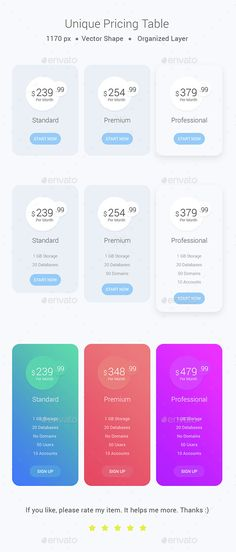 Unique Pricing Table Template PSD. Download here: http://graphicriver.net/item/unique-pricing-table/14880062?ref=ksioks