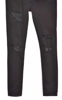 RRP £29.99 Black Ripped Knee Skinny Jeans