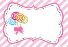Candy Theme, Candy Party, Gymnastics Wallpaper, Eid Crafts, Preschool Coloring Pages, Cute Girl Drawing, Birthday Background, Frame Template, Borders And Frames