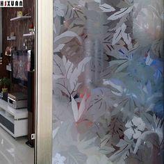 Flower Decorative Window Film 92x100cm Sliding Glass Door Self Adhesive No  Glue Electrostatic Window Sticker Hsxuan Brand 920821 *** Continue With The  ...