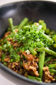 There's something pleasantly refreshing about a savory vegetable dish - green beans with garlic black beans sauce