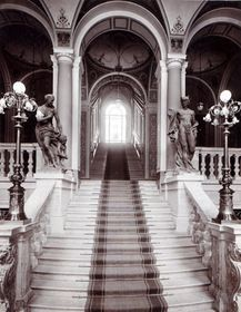 grand staircase, museum of decorative art Prague