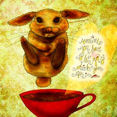 """#MOTAVATORMONDAY """"Sometimes you have to let go to drink YOUR life in."""" What my #Coffee says to me May 4 - dive into this moment and drink it in! Let go! Do the cannon ball and be free! Dive into buying a creation or two and I'll donate! Details here: http://www.catsinthebag.com/What%20my%20coffee%20says.html (What my Coffee says to me is a daily, illustrated series created by Jennifer R. Cook)"""