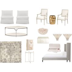bedroom bliss by sarahswansondesign on Polyvore featuring interior, interiors, interior design, home, home decor, interior decorating, Beekman 1802, Crate and Barrel, Worlds Away and Pottery Barn