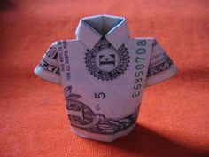 how to make a little shirt out of a dollar bill.