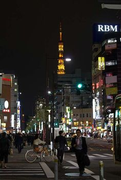 Tokyo Tower in the distance: