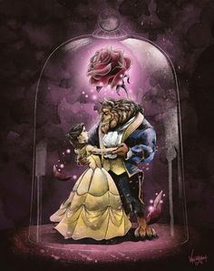 """Beauty & the Beast"" 🌹 - based off the 1991 cartoon movie, it brings back so much memories of my childhood. I remember drawing Bea. Beauty and the Beast Cartoon Cartoon, Stitch Cartoon, Cartoon Movies, Cartoon Characters, Cartoon Plane, Disney Kunst, Disney Art, Belle And Beast, Disney Beauty And The Beast"