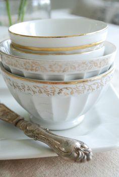 gold trimmed cafe au lait bowls http://findanswerhere.com/dinnerware