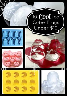 10 Cool Ice Cube Trays all under $10!!