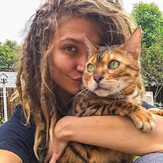 I don't care about the hair - I love this beautiful cat - Looks like the new Toyger breed. Dreadlock Hairstyles, Teen Hairstyles, Latest Hairstyles, Hairstyles With Bangs, Bangs Hairstyle, Dreadlocks Girl, Locs, Chinese Bangs, White Dreads