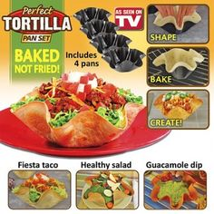 perfect tortilla bowl review and instructions. I lost my instructions.