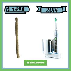 The first toothbrush was invented over 500 years ago! Hope they remembered to floss too! #deltadental # teethintime