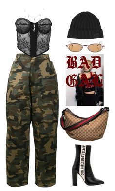 """NØ SLEEP"" by lalagenue ❤ liked on Polyvore featuring Hood by Air, Versace, Havva, Gucci and Dsquared2"