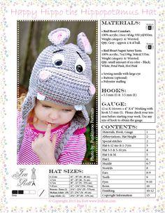 Hippo Hat Crochet Pattern