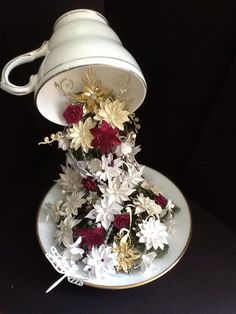 Sandra's floating tea cup done at Jo Channons workshop