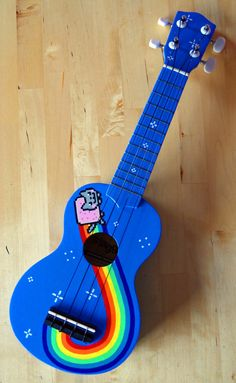Nyan Cat Ukulele by LizardPop on Etsy, £80.00